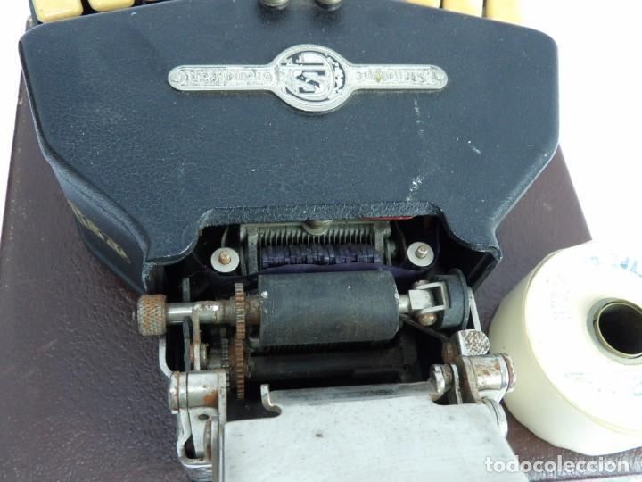 Antigüedades: Máquinade escribir Steonotipe marca GRANDJEAN, fafricada en Francia el años 40/50 y número 19252. Co - Foto 12 - 248708205
