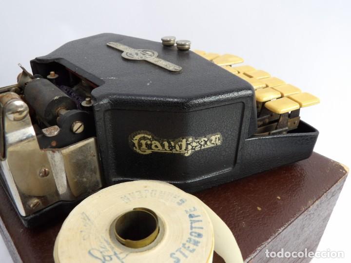 Antigüedades: Máquinade escribir Steonotipe marca GRANDJEAN, fafricada en Francia el años 40/50 y número 19252. Co - Foto 13 - 248708205