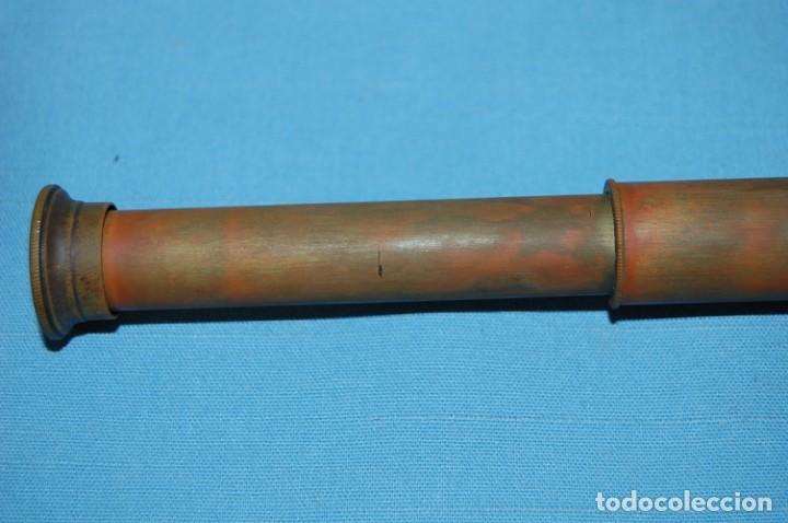 Antigüedades: CATALEJO EN METAL Y CUERO - Foto 4 - 248746865