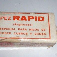 Antigüedades: PEZ RAPID, ESPECIAL PARA HILOS DE COSER CUEROS Y LONAS. Lote 248784665