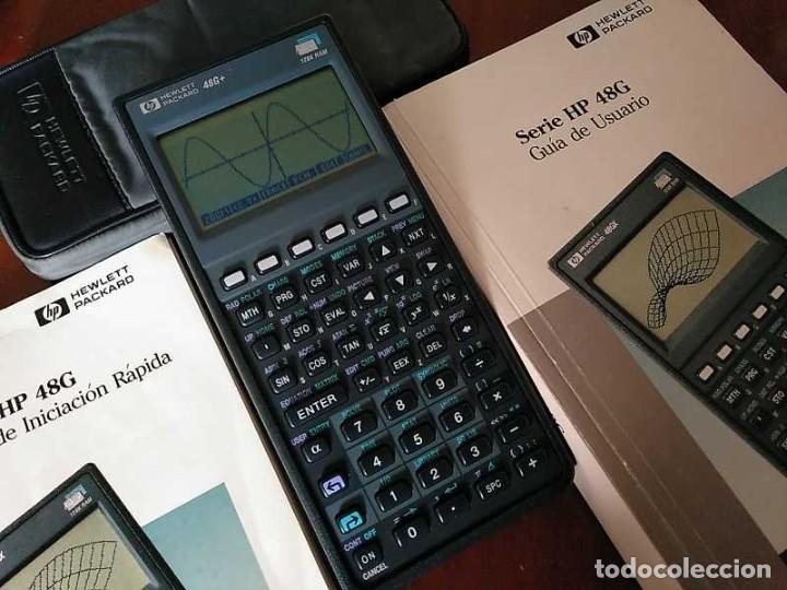 CALCULADORA HP 48G+ HEWLETT PACKARD 128K RAM 1993 RPN FUNCIONANDO CON FUNDA MANUALES INSTRUCCIONES (Antigüedades - Técnicas - Aparatos de Cálculo - Calculadoras Antiguas)