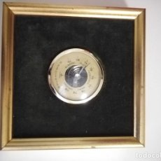 Antigüedades: BARÓMETRO DE PARED EN MARCO DORADO (MADE IN FRANCE). Lote 248949125