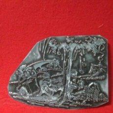 Antigüedades: CURIOSO MOLDE O TROQUEL DE IMPRENTA ,CARICATURA O DIBUJO PARA PERIODICO ,DIBUJO FIRMADO,SEAT 600. Lote 248973580