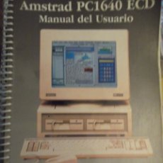 Antiguidades: LIBRO MANUAL DEL USUARIO AMSTRAD PC1640 ECD VOL 1. Lote 249031730