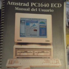Antiguidades: LIBRO MANUAL DEL USUARIO AMSTRAD PC1640 ECD VOL 2. Lote 249031995