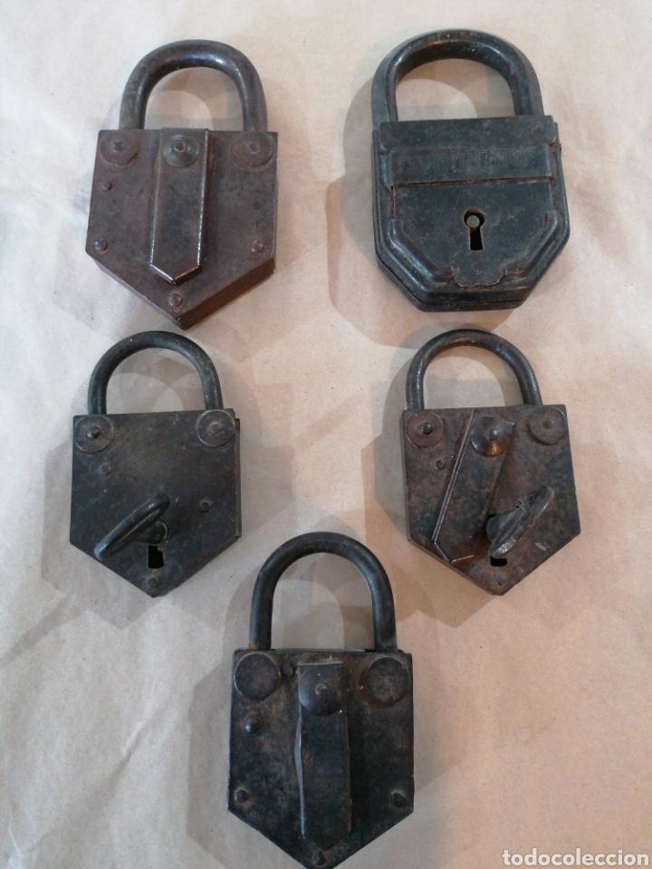 LOTE DE CANDADOS ANTIGUOS (Antigüedades - Técnicas - Cerrajería y Forja - Candados Antiguos)