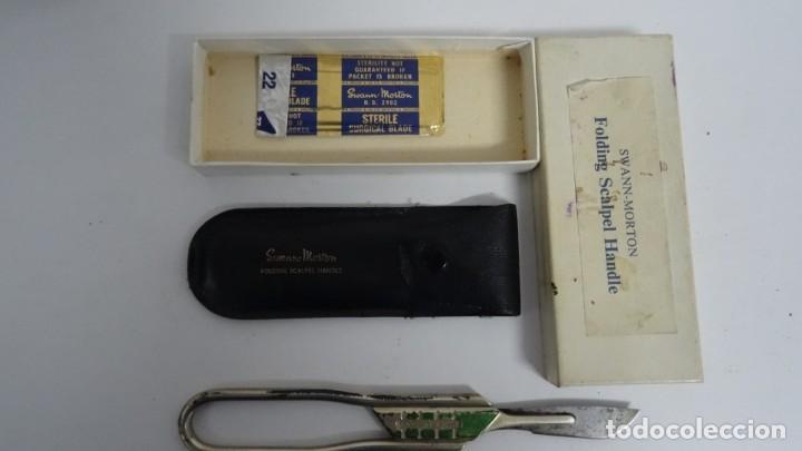 Antigüedades: BISTURI O ESCARPELO SWANN MORTON Plegable - Foto 5 - 249228165