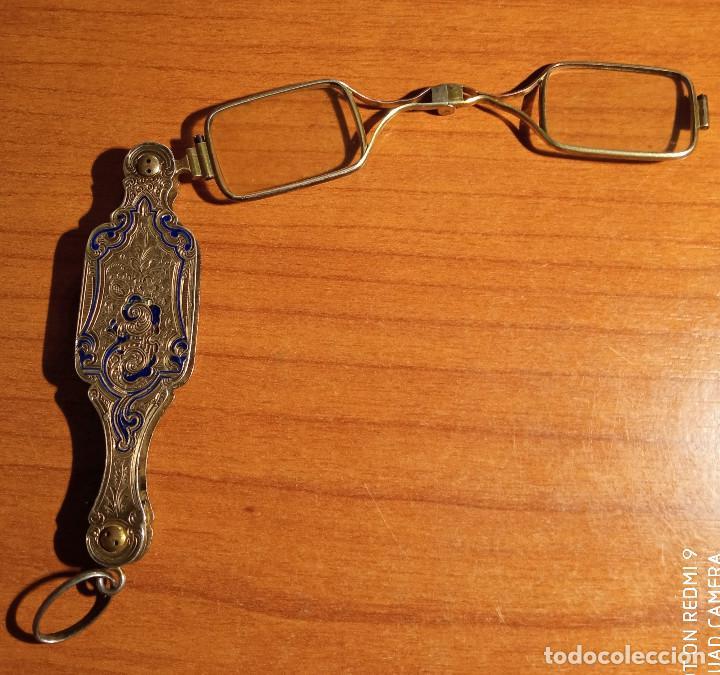 Antigüedades: Gafas plegables en plata y esmaltes siglo XIX - Foto 3 - 249329550