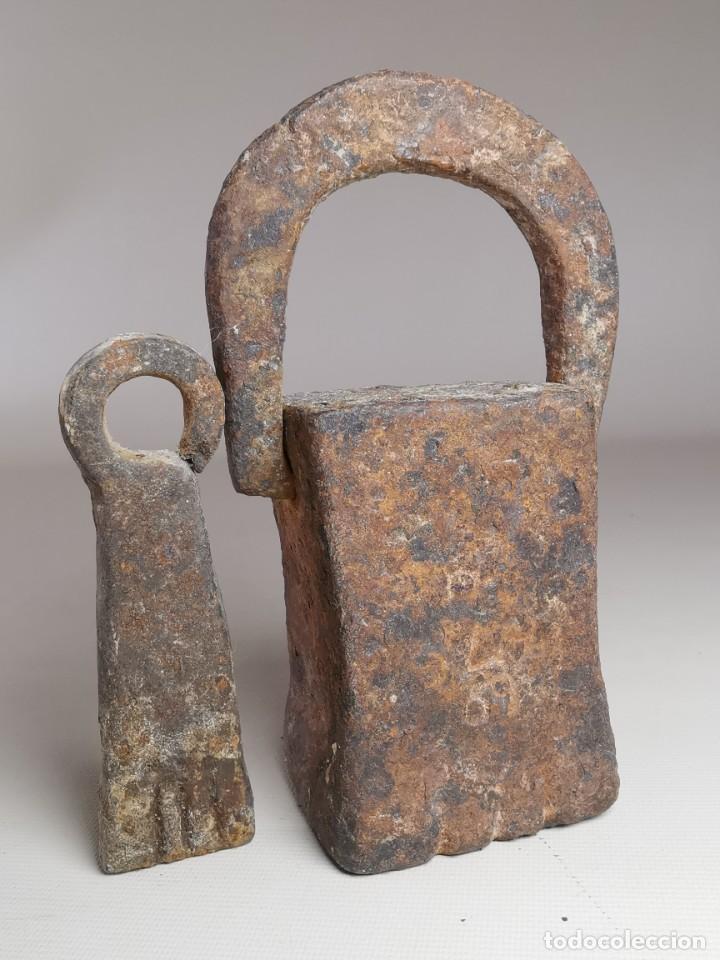 Antigüedades: PAREJA PESA CATALANAS CON MARCAJES -SIGLO XIX -VILAFRANCA PENEDES -ESPAÑA -CATALUÑA --REF-MO - Foto 2 - 249476150
