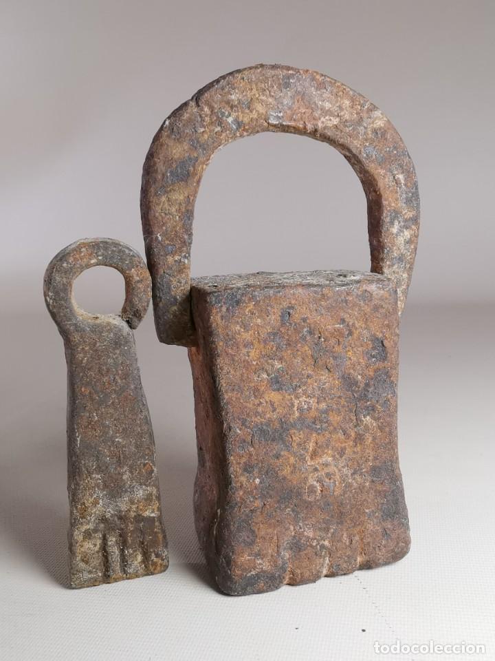 Antigüedades: PAREJA PESA CATALANAS CON MARCAJES -SIGLO XIX -VILAFRANCA PENEDES -ESPAÑA -CATALUÑA --REF-MO - Foto 4 - 249476150