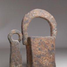 Antigüedades: PAREJA PESA CATALANAS CON MARCAJES -SIGLO XIX -VILAFRANCA PENEDES -ESPAÑA -CATALUÑA --REF-MO. Lote 249476150