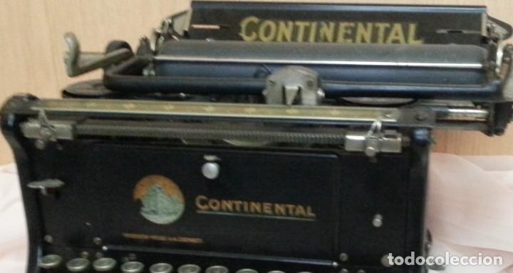 Antigüedades: Máquina de escribir antigua. Marca Continental. Buen estado. - Foto 5 - 250113785