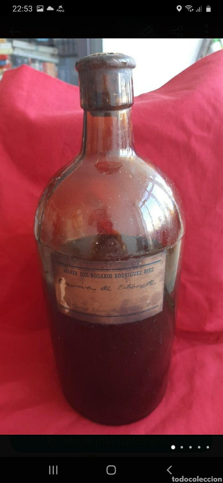 ANTIGUA BOTELLA DE FARMACIA (Antigüedades - Técnicas - Herramientas Profesionales - Medicina)