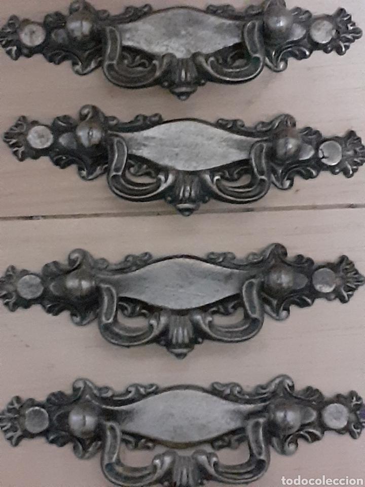 Antigüedades: 7 tiradores antiguos, mide 10,5 cm de largo - Foto 2 - 251063500