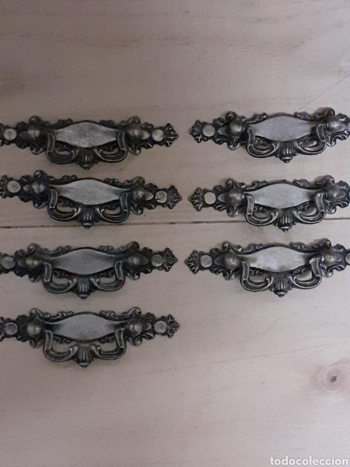 7 TIRADORES ANTIGUOS, MIDE 10,5 CM DE LARGO (Antigüedades - Técnicas - Cerrajería y Forja - Tiradores Antiguos)
