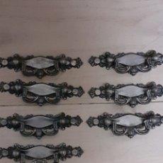 Antigüedades: 7 TIRADORES ANTIGUOS, MIDE 10,5 CM DE LARGO. Lote 251063500