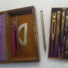 Antigüedades: JUEGO COMPASES CIRCA 1900 CALIDAD INSTRUMENTOS TÉCNICOS DIBUJO NAVALES. Lote 251246825