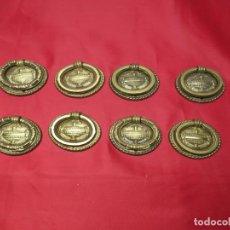 Antigüedades: LOTE 8 TIRADORES BRONCE. Lote 251300010