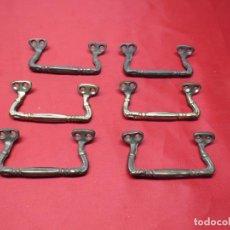 Antigüedades: TIRADORES DE ESTAÑO. Lote 251316060