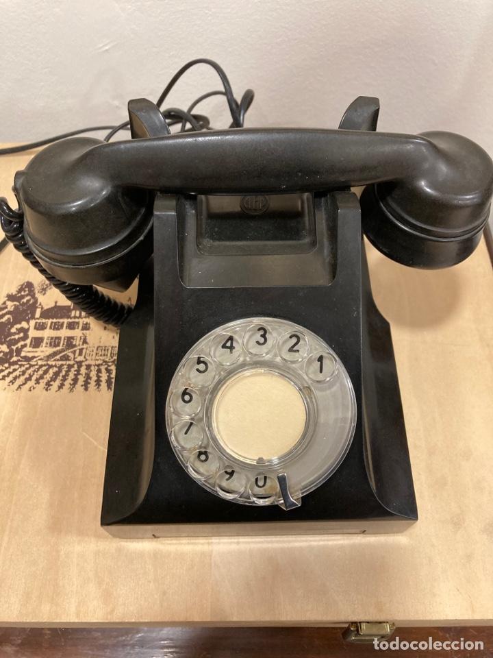 MAGNIFICO TELÉFONO DE BAQUELITA NEGRO INGLÉS (Antigüedades - Técnicas - Teléfonos Antiguos)