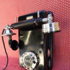 Teléfonos: ANTIGUO TELEFONO DE PARED DE LA MARCA TELEGRAFVERKETS (ERICSSON) SUECIA. EXCELENTE CONSERVACIÓN.. Lote 251576390