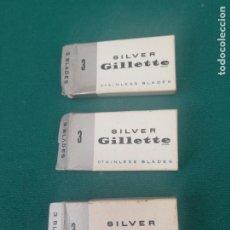 Antigüedades: SILVER GILLETTE - 3 CAJAS - VER CONTENIDO EN DESCRIPCION. Lote 251614870