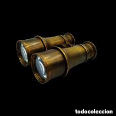 Antigüedades: ANTIGOS - BINÓCULOS EM BRONZE. Lote 251760485