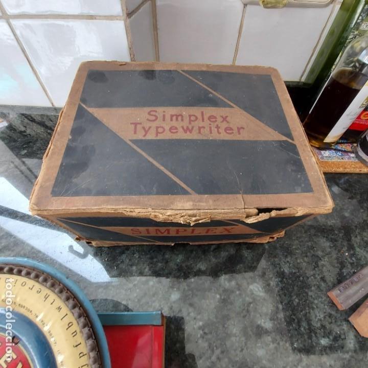 Antigüedades: Maquina Escribir de Chapa--SIMPLEX TYPEWRITER Special D--PATENTES e Instrucciones---Juguete - Foto 6 - 251837140