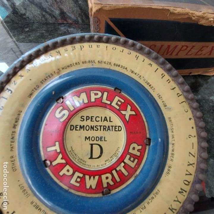 Antigüedades: Maquina Escribir de Chapa--SIMPLEX TYPEWRITER Special D--PATENTES e Instrucciones---Juguete - Foto 2 - 251837140