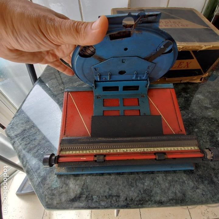 Antigüedades: Maquina Escribir de Chapa--SIMPLEX TYPEWRITER Special D--PATENTES e Instrucciones---Juguete - Foto 4 - 251837140