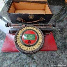 Antiguidades: MAQUINA ESCRIBIR CHAPA--SIMPLEX TYPEWRITER SPECIAL 1 MODEL-1911(USA)PATENTES-AÑO 1892+INSTRUCCIONES. Lote 251839080
