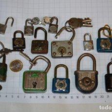 Antigüedades: VINTAGE/ANTIGUO - LOTE 13 CANDADOS METÁLICOS - DIFERENTES, MARCAS, MODELOS Y TAMAÑOS ¡MIRA FOTOS!. Lote 251862785