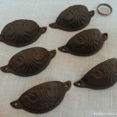 Antigüedades: TIRADORES DE CAJONES ESTILO VINTAGE. 6 UNIDADES.. Lote 293999213