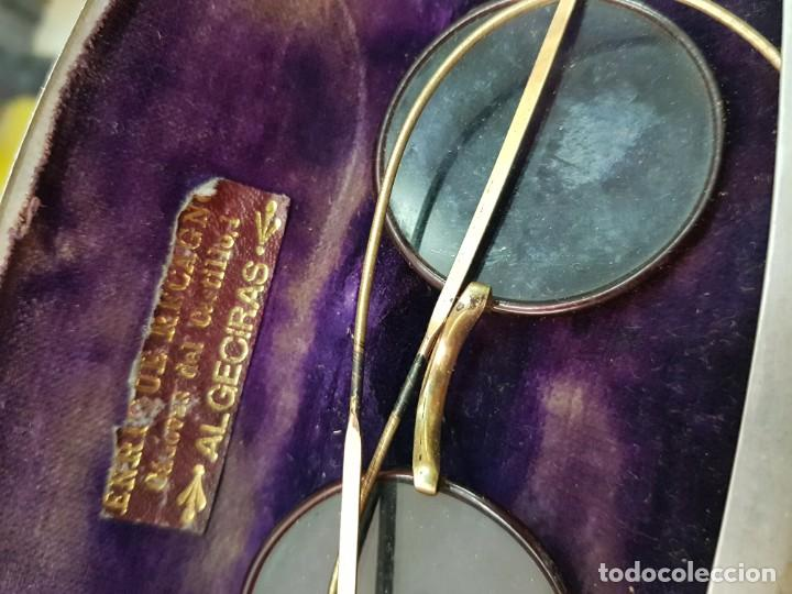 Antigüedades: ANTIGUAS GAFAS CON FUNDA OPTICO ENRIQUE RECAGNO ALGECIRAS CADIZ - Foto 2 - 251973825