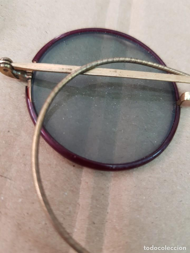 Antigüedades: ANTIGUAS GAFAS CON FUNDA OPTICO ENRIQUE RECAGNO ALGECIRAS CADIZ - Foto 6 - 251973825