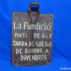 Antigüedades: CARTEL EN AZADA. LA FUNDICIÓN.. Lote 252068980