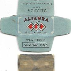 Antigüedades: ESPAÑA-FUNDA HOJA AFEITAR Y CUCHILLA MARCA ALIANZA-LAMETTA DA BARBA,RAZOR BLADE,LAME DE RASOIR. Lote 252302855