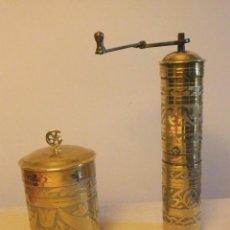 Antigüedades: ANTIGUO MOLINILLO DE CAFÉ Y AZUCARERO OTOMANO PPS. S.XX DE COLECCIÓN. Lote 252456555