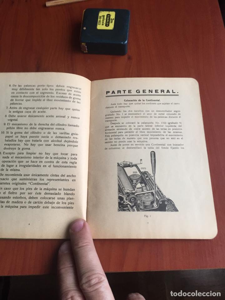 Antigüedades: Instrucciones uso máquina de escribir continental - Foto 6 - 252516795