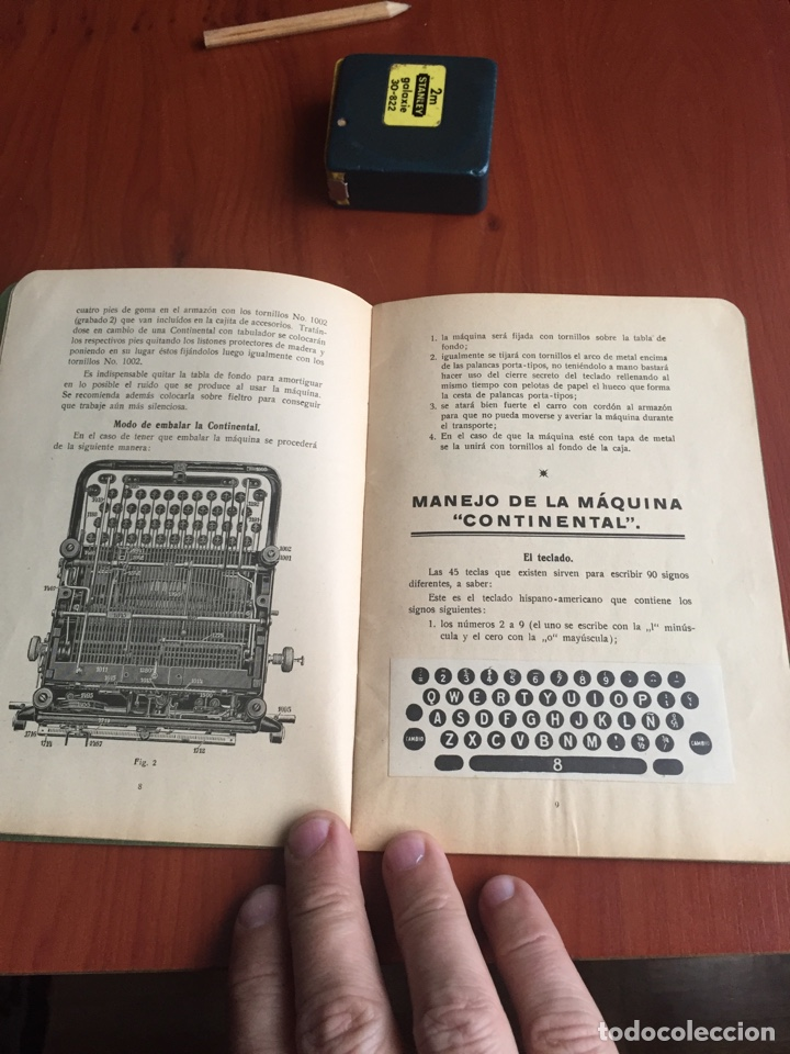 Antigüedades: Instrucciones uso máquina de escribir continental - Foto 7 - 252516795