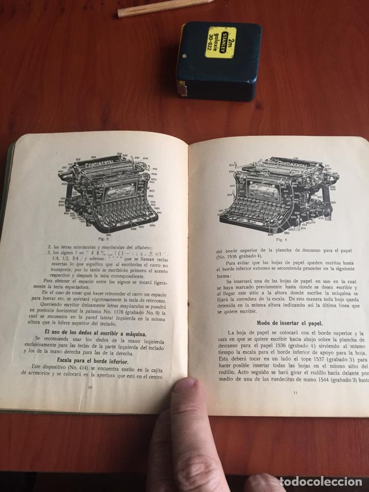 Antigüedades: Instrucciones uso máquina de escribir continental - Foto 8 - 252516795