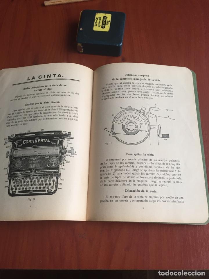 Antigüedades: Instrucciones uso máquina de escribir continental - Foto 9 - 252516795