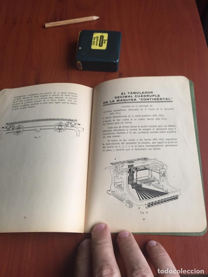 Antigüedades: Instrucciones uso máquina de escribir continental - Foto 10 - 252516795
