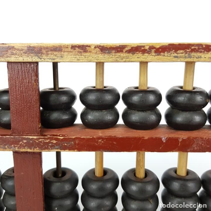 Antigüedades: ANTIGUO ÁBACO CHINO CON CUENTAS DE CUERNO DE BÚFALO AÑOS 50 - Foto 11 - 225040480