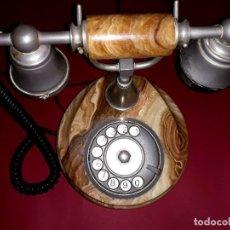 Teléfonos: TELÉFONO VINTAGE ONIX TELMAR ORO PLATEADO 18 KILATES. Lote 252811495
