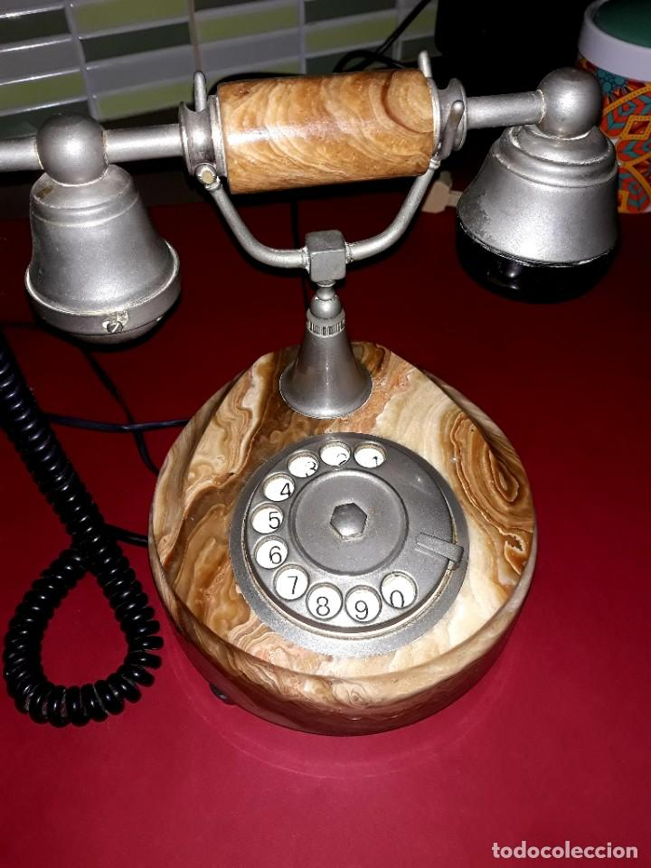 Teléfonos: Teléfono Vintage Onix Telmar Oro Plateado 18 Kilates - Foto 2 - 252811495