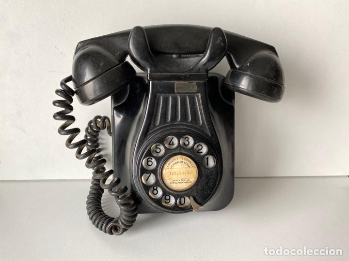 TELEFONO DE BAQUELITA PARED (Antigüedades - Técnicas - Teléfonos Antiguos)