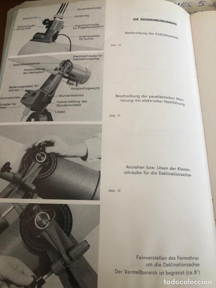 Antigüedades: Telescopio alemán de 1961. Spiegel fernrohr 100 - Foto 7 - 252921250