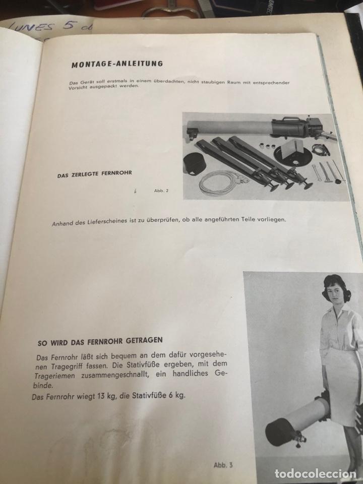 Antigüedades: Telescopio alemán de 1961. Spiegel fernrohr 100 - Foto 8 - 252921250