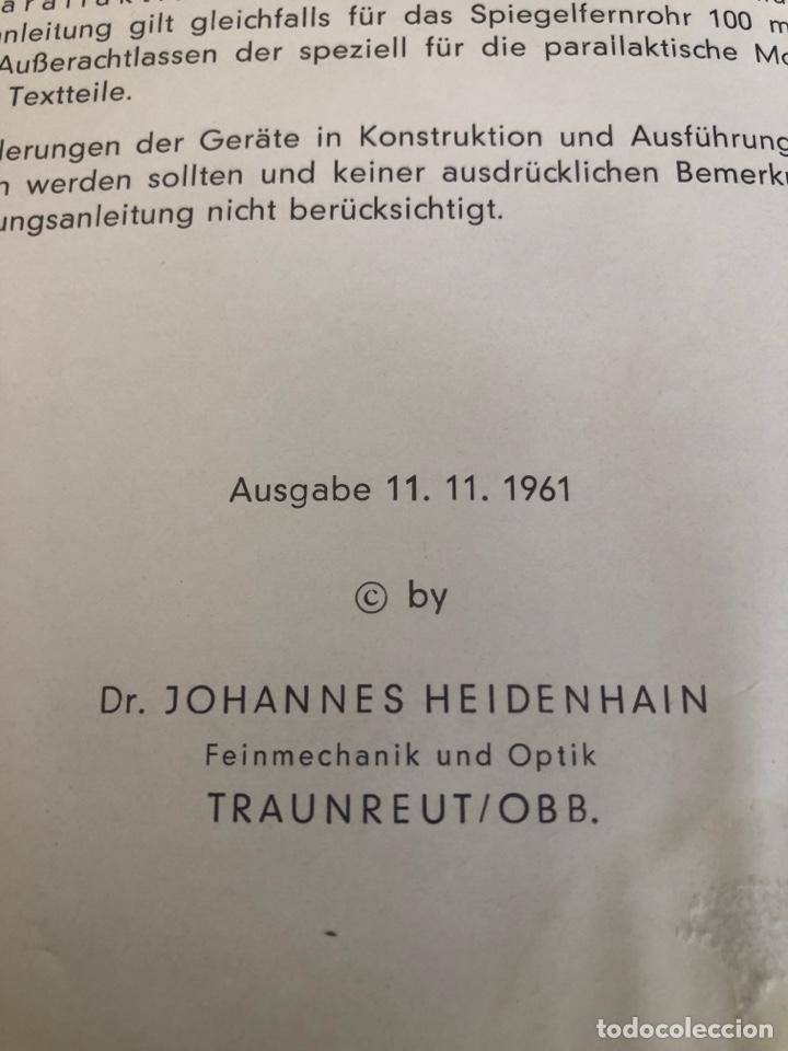 Antigüedades: Telescopio alemán de 1961. Spiegel fernrohr 100 - Foto 9 - 252921250